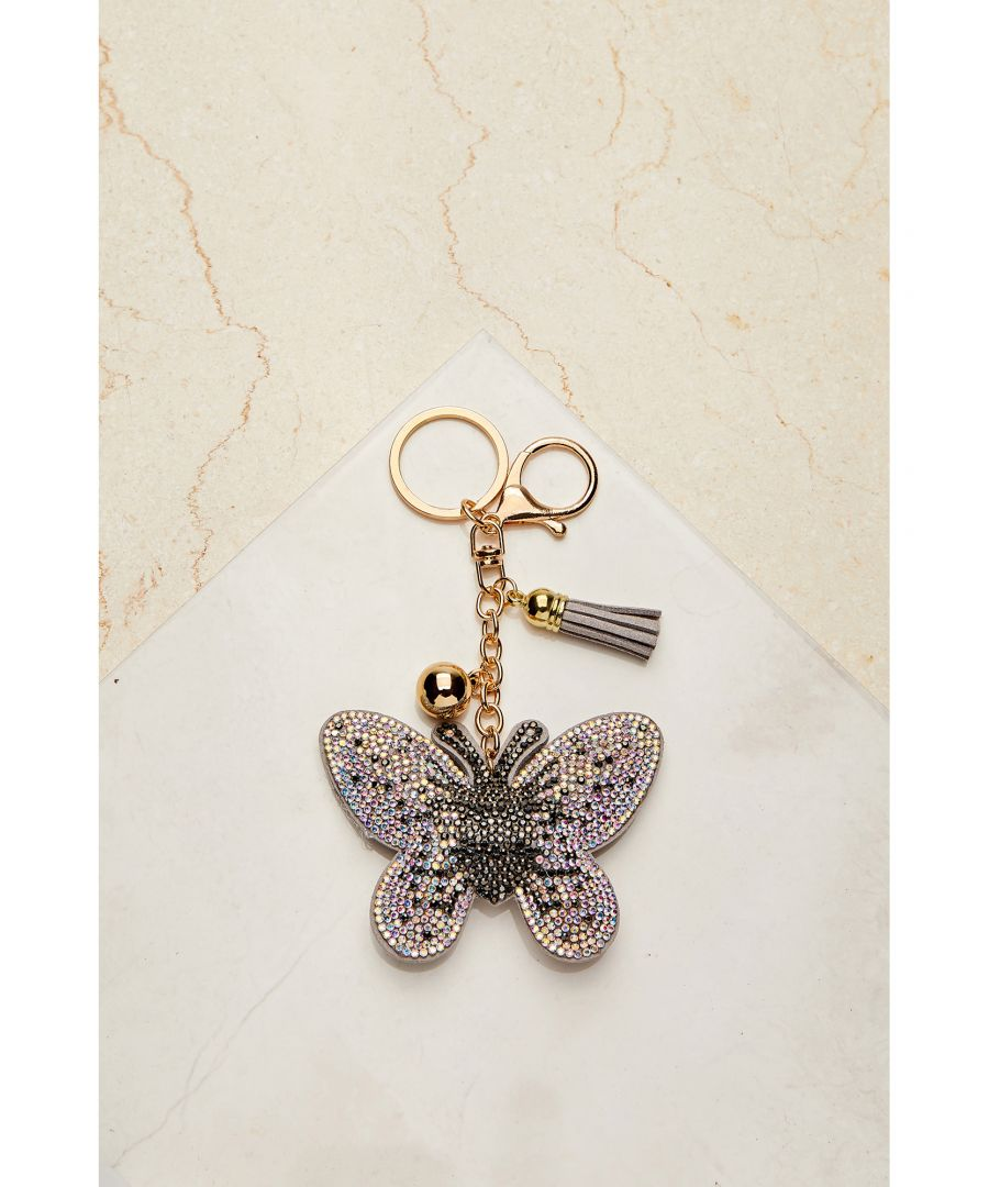 Image for Sequin Butterfly Keyring