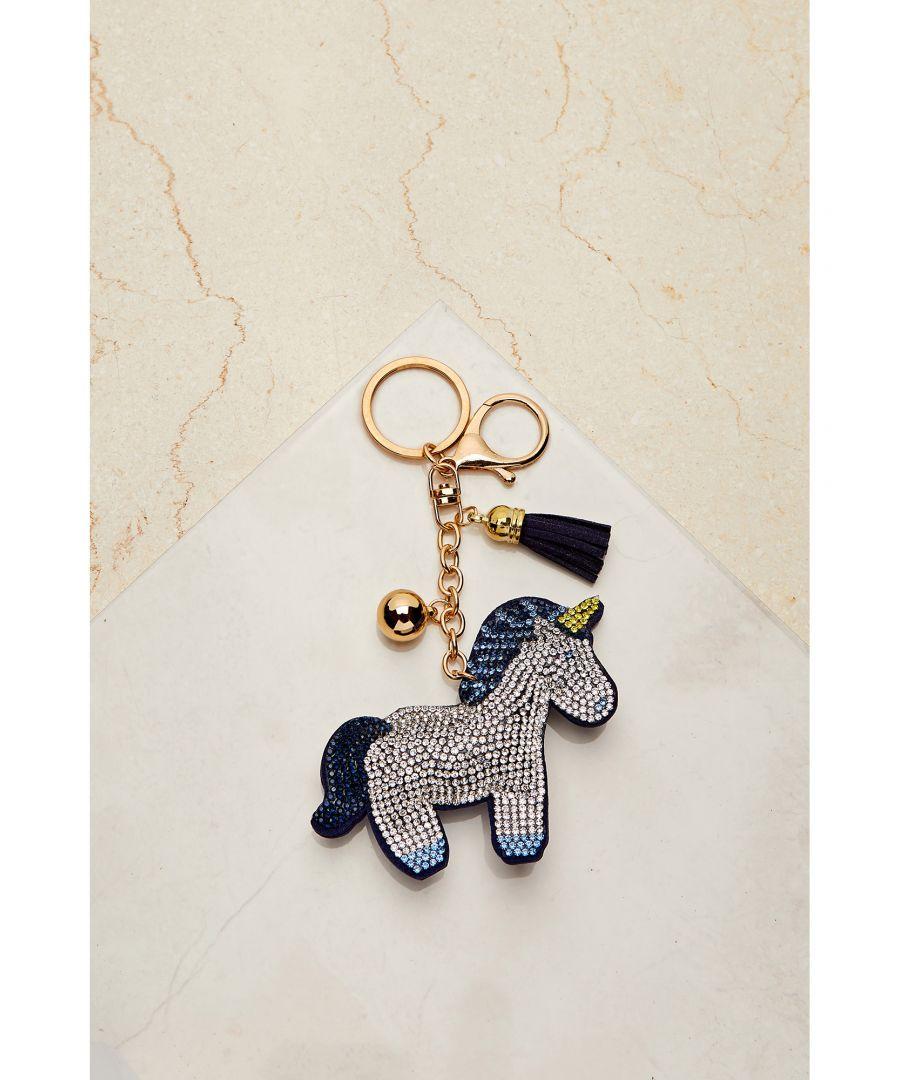 Image for Sequin Unicorn Keyring