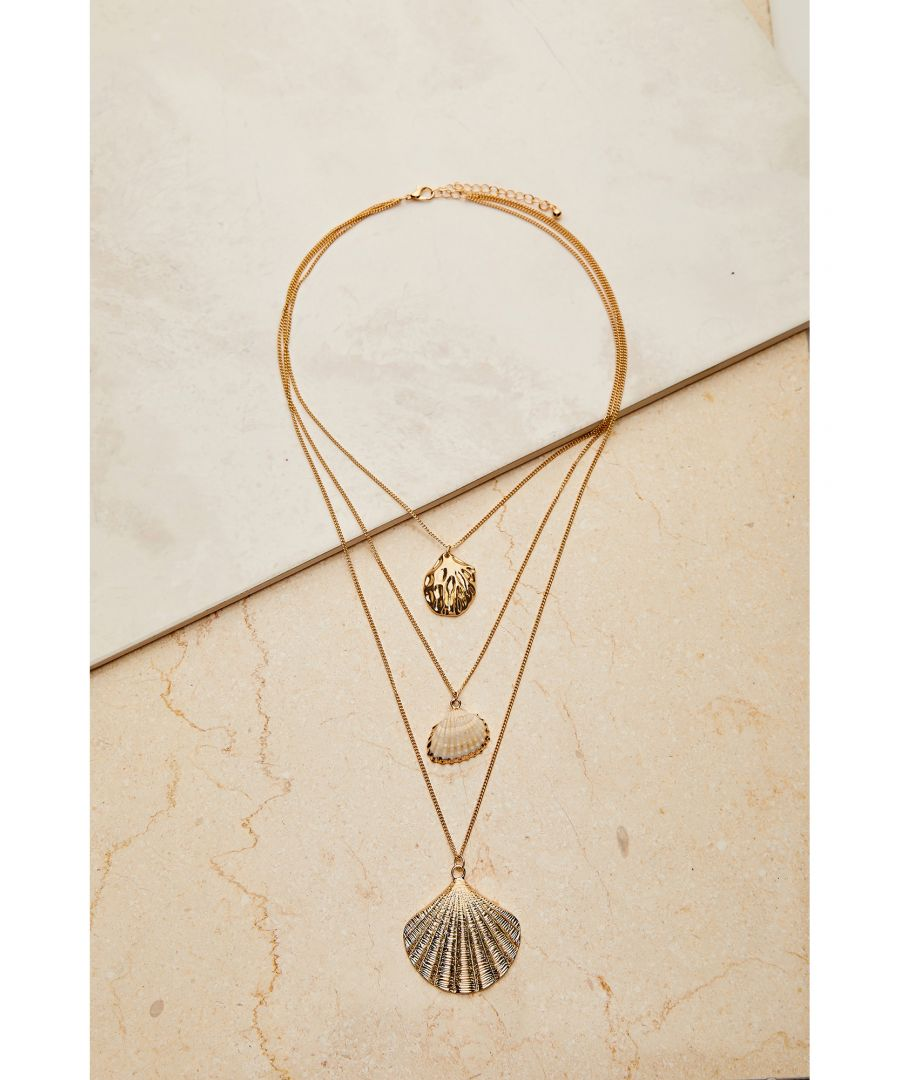 Image for 3 X Chain Necklace With Shell Pendant