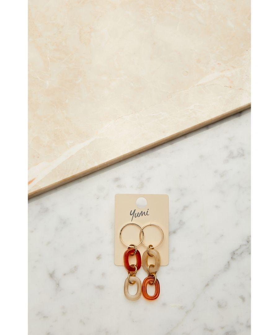 Image for Marble Drop Circle Earrings