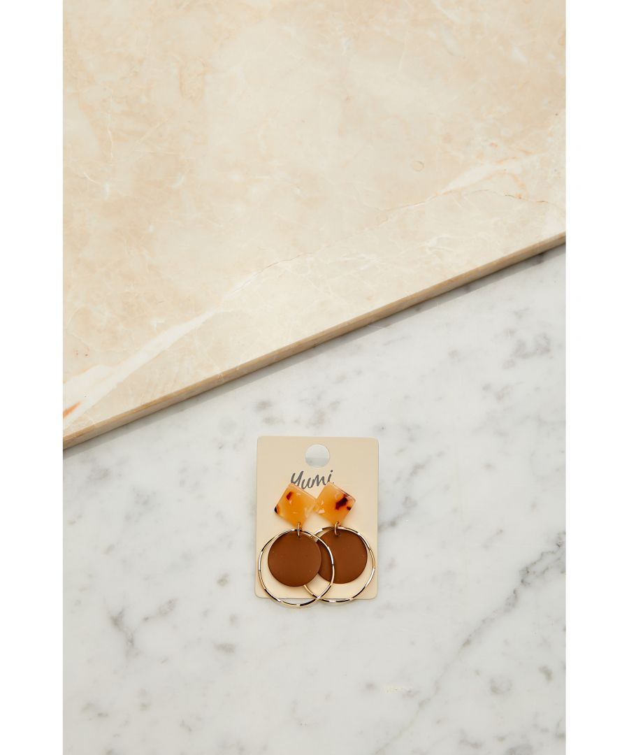 Image for Marble Circle Earrings