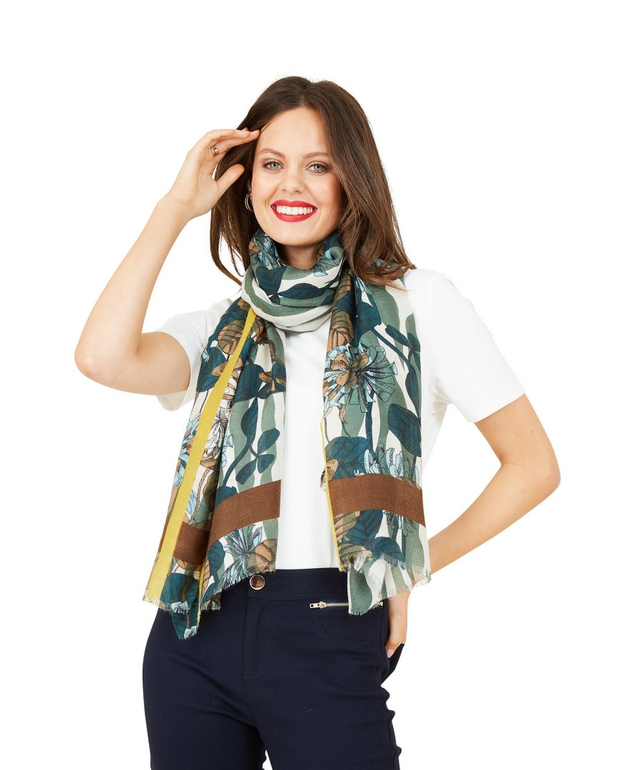 Image for Summer Floral And Stripe Scarf
