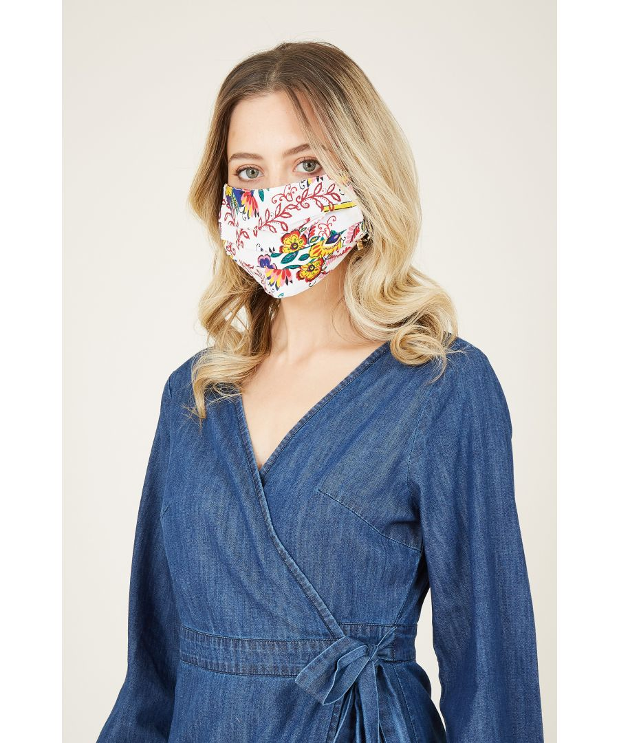 Image for Retro Floral Face Mask