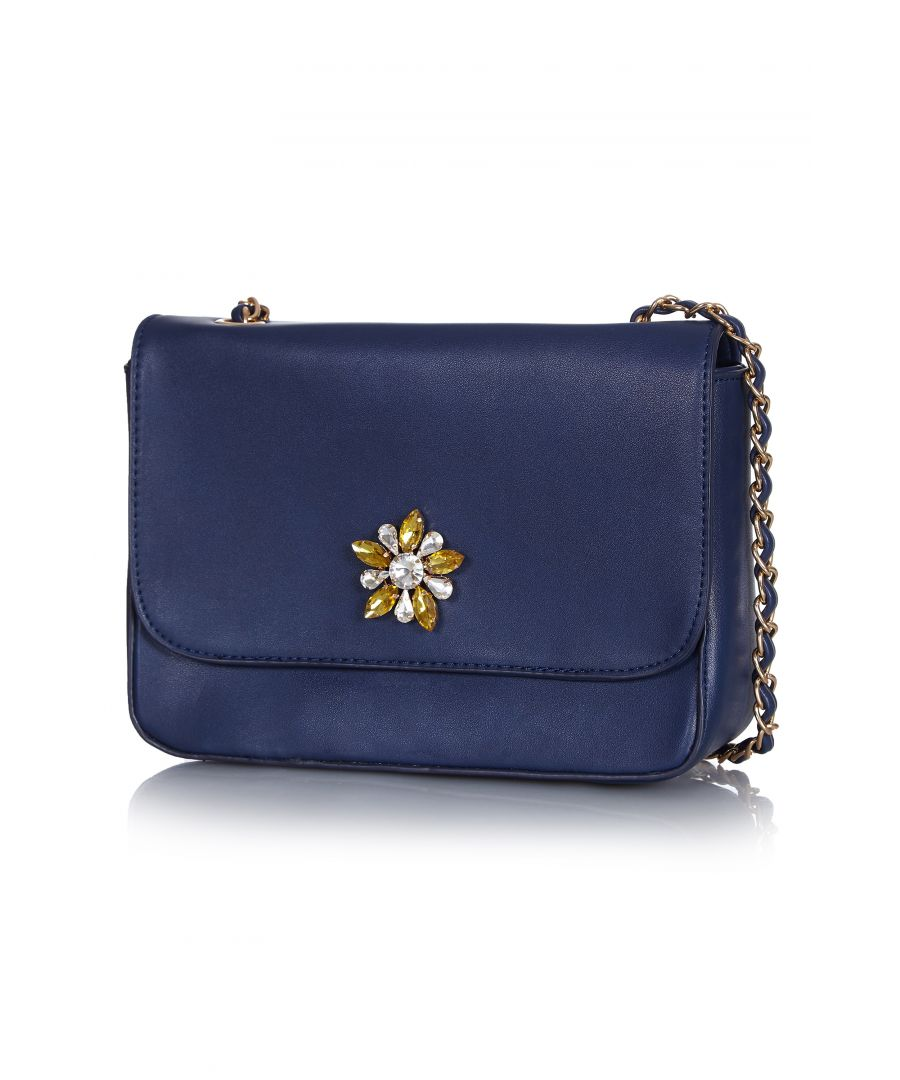 Image for Embellished cluster shoulder bag