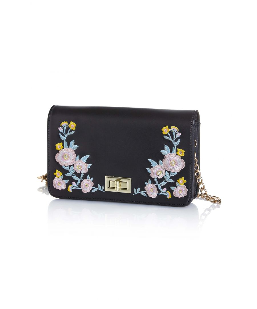 Image for Flower Blossom Embroidery Clutch Bag