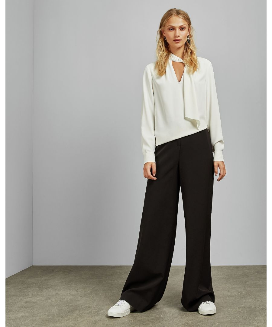 Image for Ted Baker Adaart Wide Leg Tailored Trousers, Black