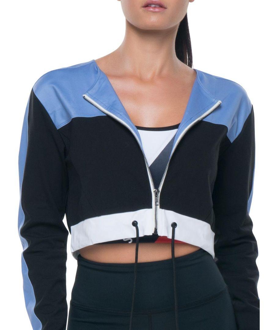 Image for Azura Fit Original Cropped Jacket Blue/White