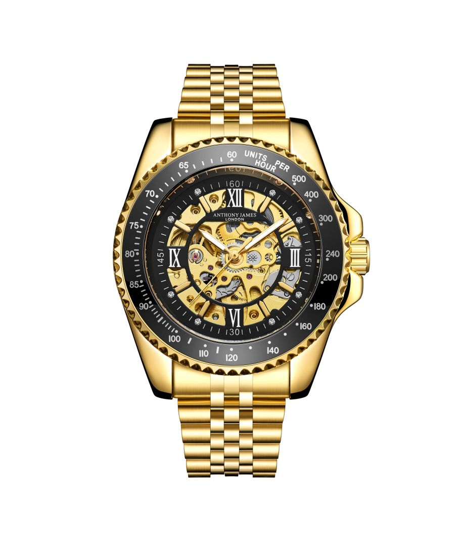 Image for Hand Assembled Anthony James Limited Edition Tachymeter Sports Automatic Gold