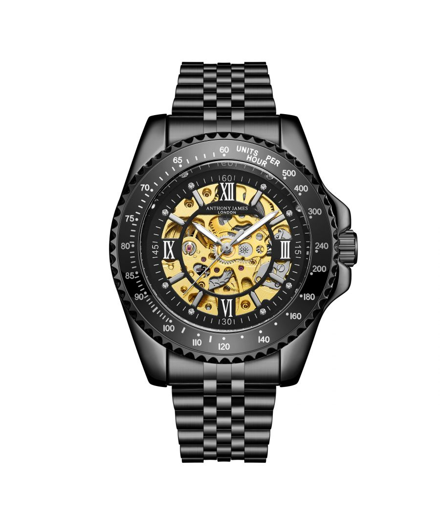 Image for Hand Assembled Anthony James Limited Edition Tachymeter Sports Automatic Black