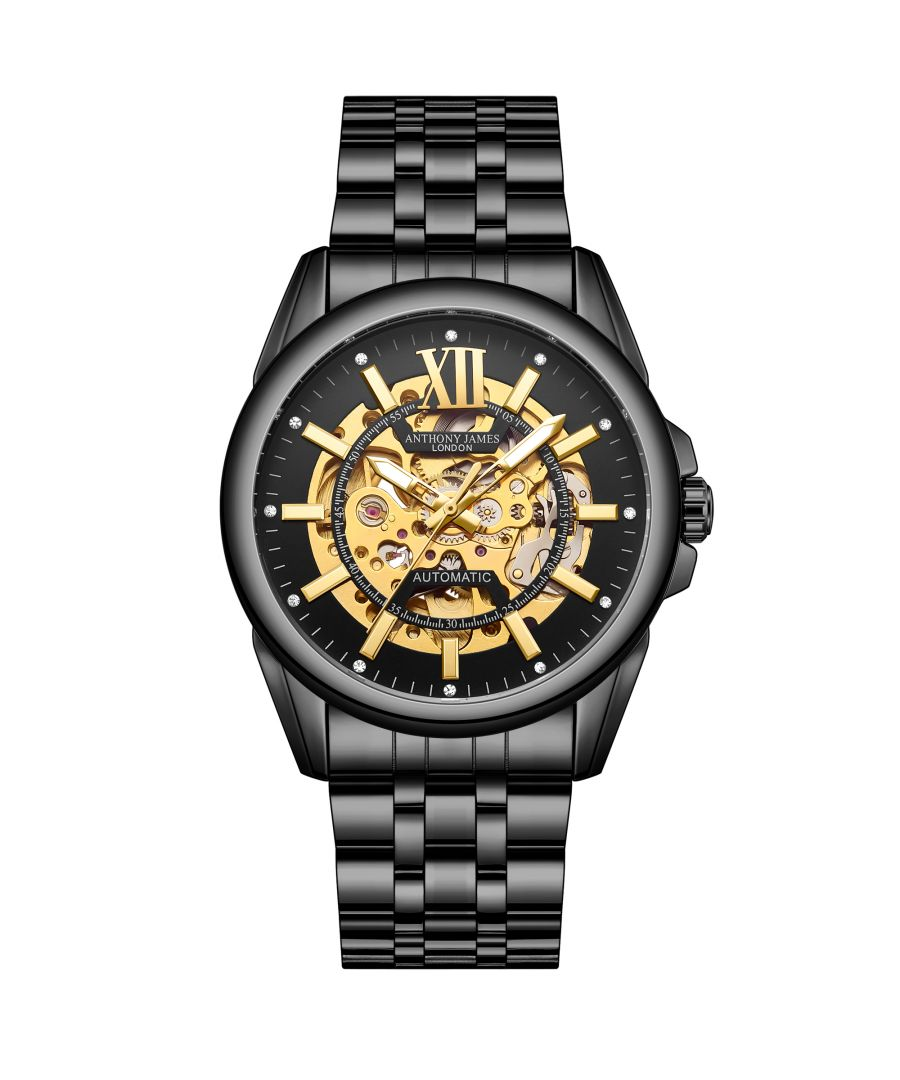 Image for Hand Assembled Anthony James Limited Edition Mystique Automatic Black - 5 Year Warranty