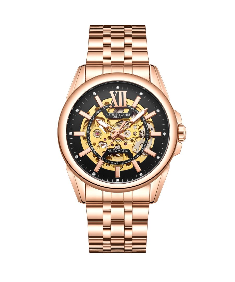 Image for Hand Assembled Anthony James Limited Edition Mystique Automatic Rose - 5 Year Warranty