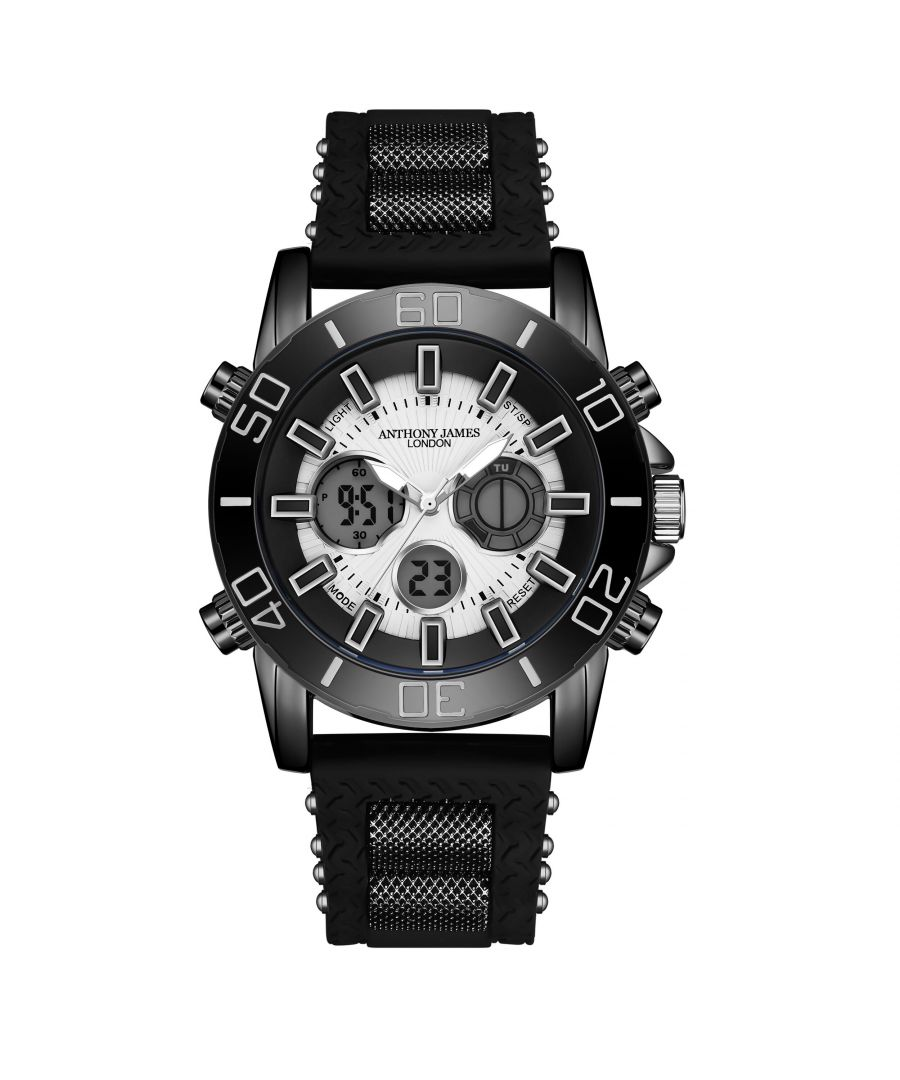 Image for Hand Assembled Anthony James Limited Edition Sports Chrono Black - 5 Year Warranty