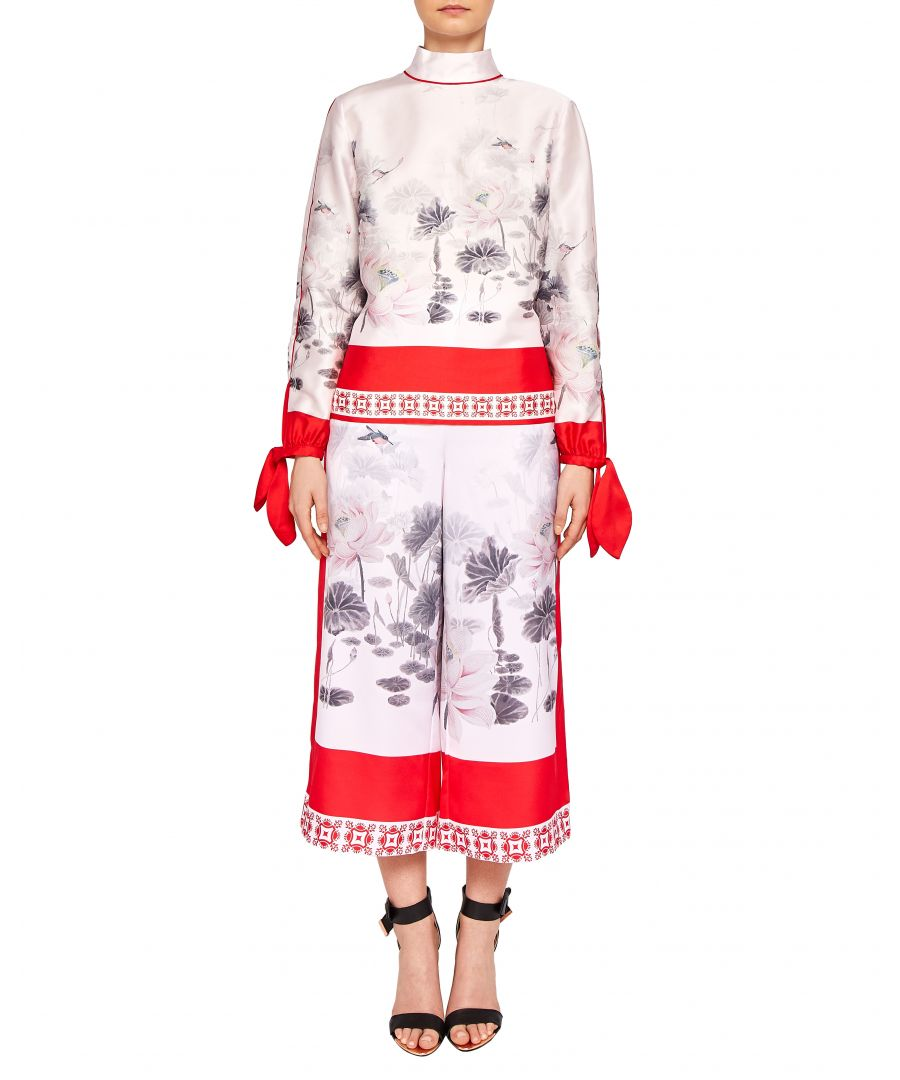 Image for Ted Baker Alanya Lake Of Dreams Printed Culotte in Pink