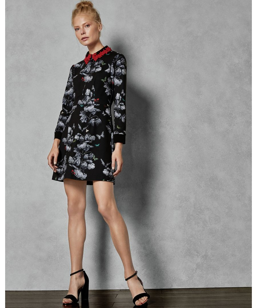 Image for Ted Baker Amaliia Narrnia Collar Dress, Black