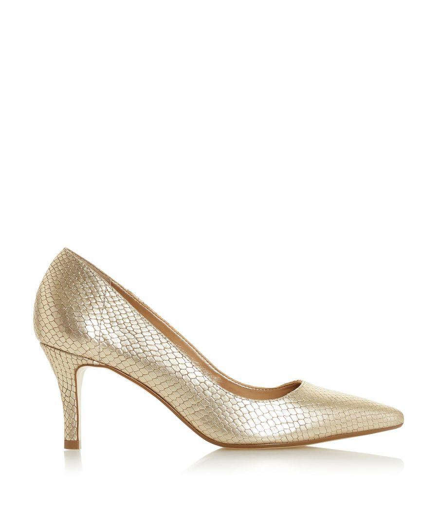 Image for Dune Ladies ANDINA Unlined Comfort Point Mid Heel Court