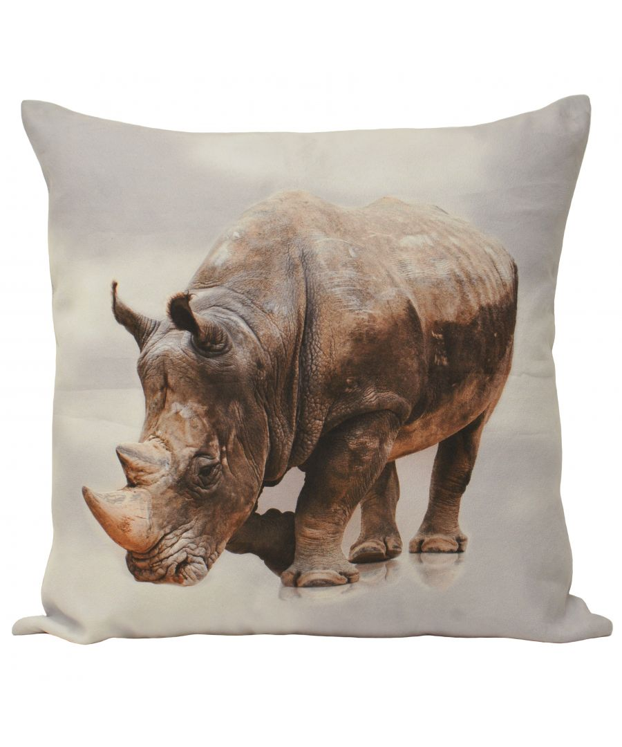 Image for Animal Rhino 55X55 Poly Cushion