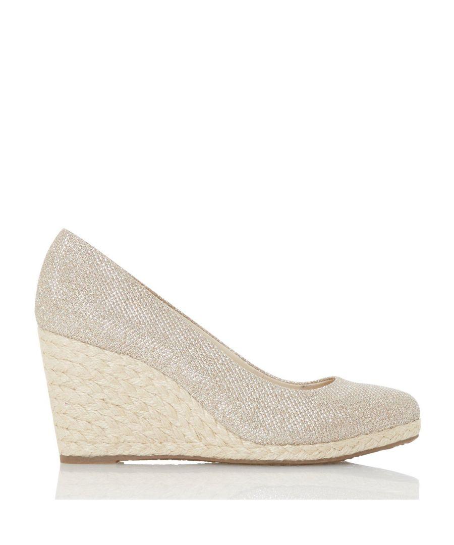 Image for Dune Ladies ANNABELS Wedge Heel Espadrille Shoes
