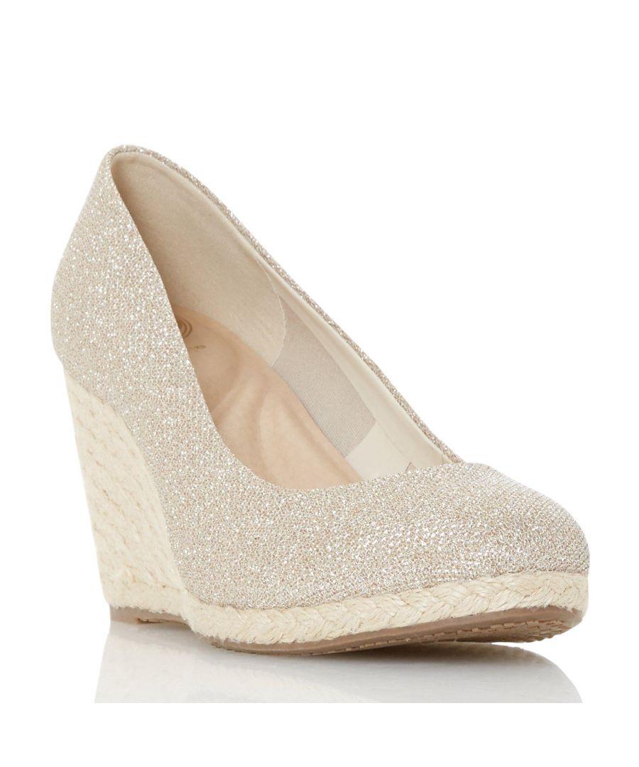 Image for Dune Ladies ANNABELS Wedge Heel Espadrille Shoe
