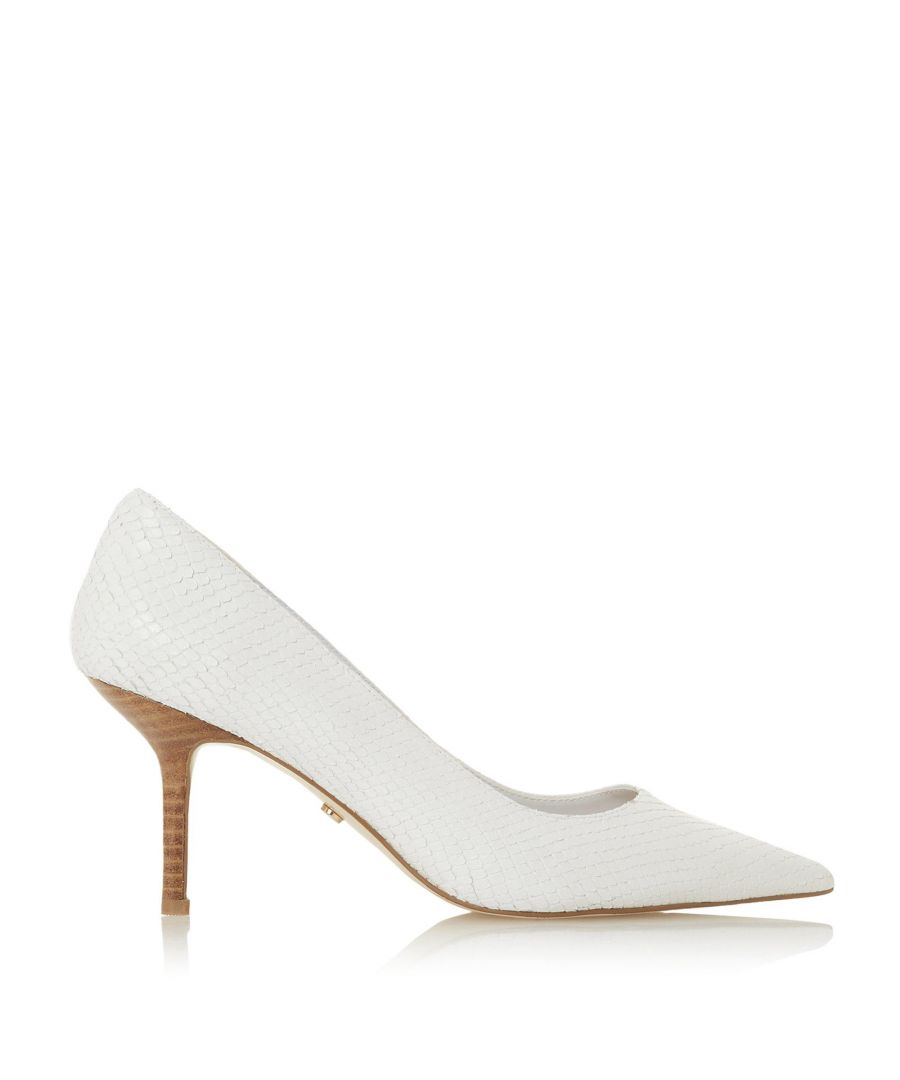 Image for Dune Ladies ANNALIE Mid Heel Court Shoes