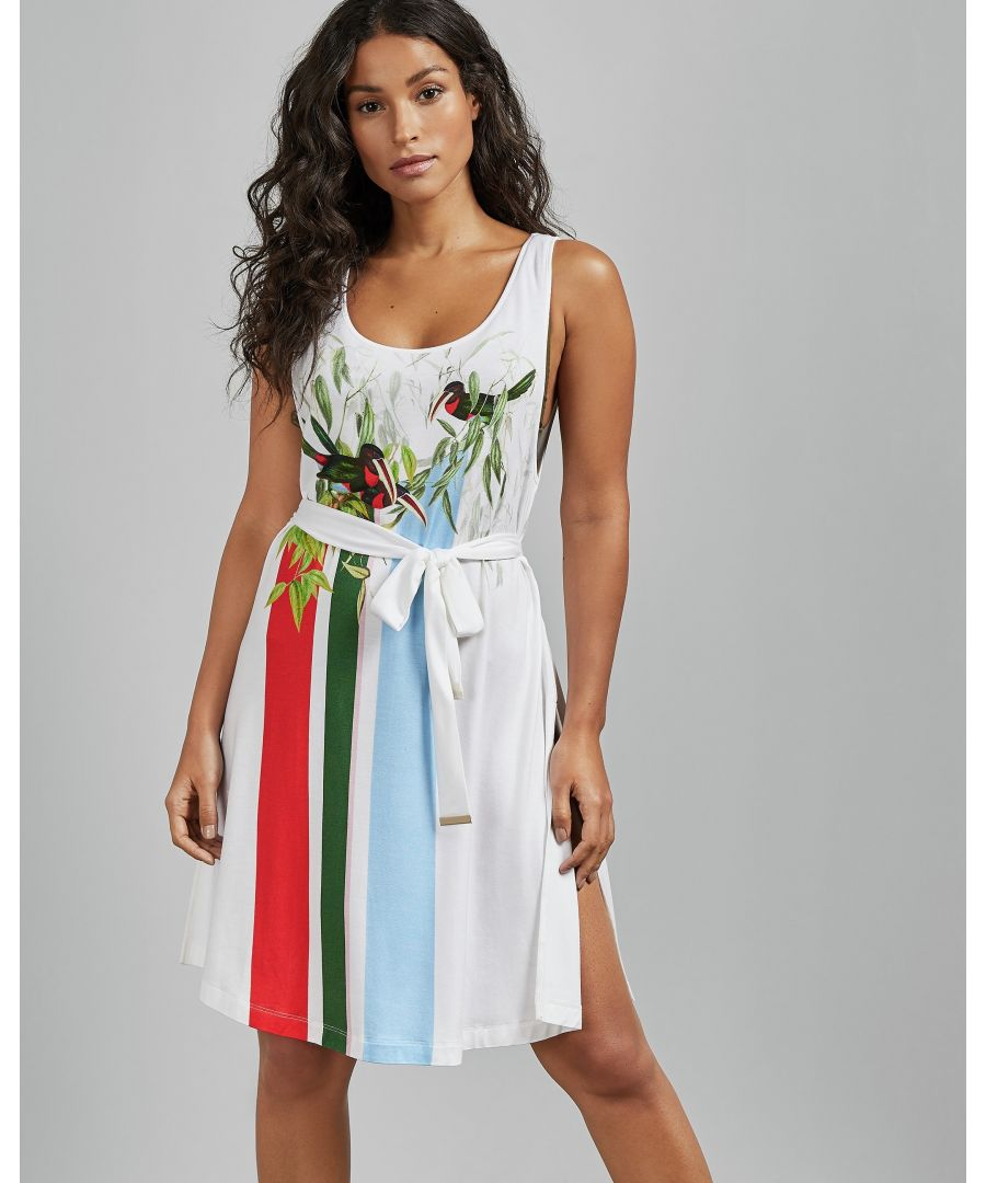 Image for Ted Baker Anneiy Tutti Frutti Belted Cover Up, White