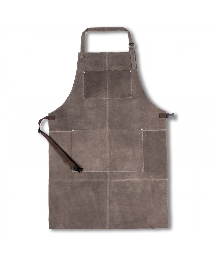 Image for WOODLAND LEATHER UNISEX CRACKLE LEATHER APRON, FULL LENGTH WITH ADJUSTABLE TIE WAIST