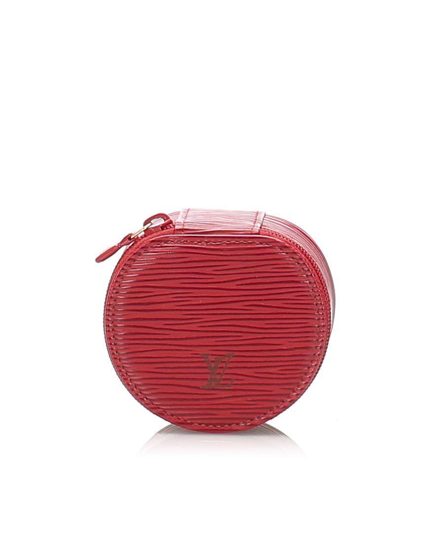 Image for Vintage Louis Vuitton Epi Ecrin Bijoux 8 Red