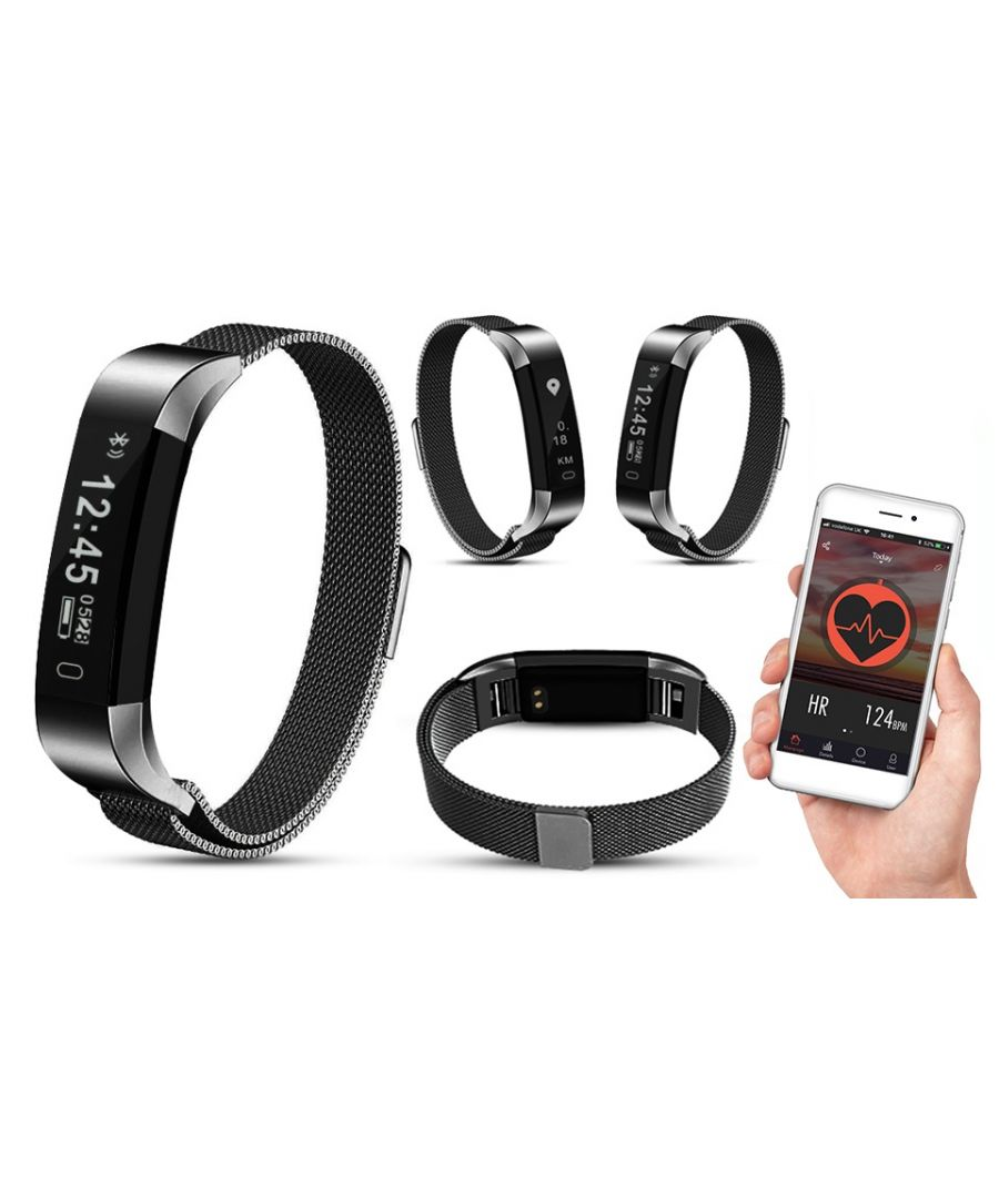 Image for AQ115 HR Fitness Tracker with Milanese Strap Space Grey