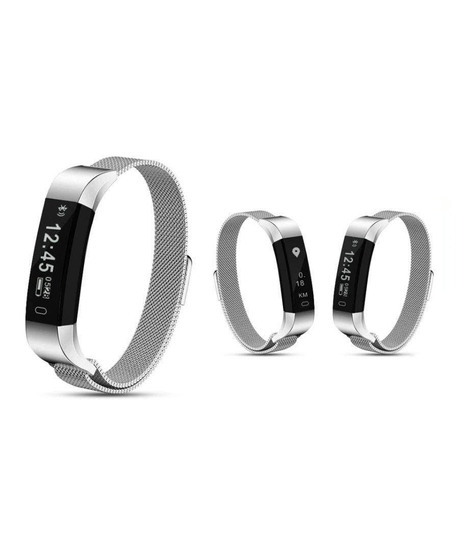 Image for AQ115 HR Fitness Tracker with Milanese Strap Silver