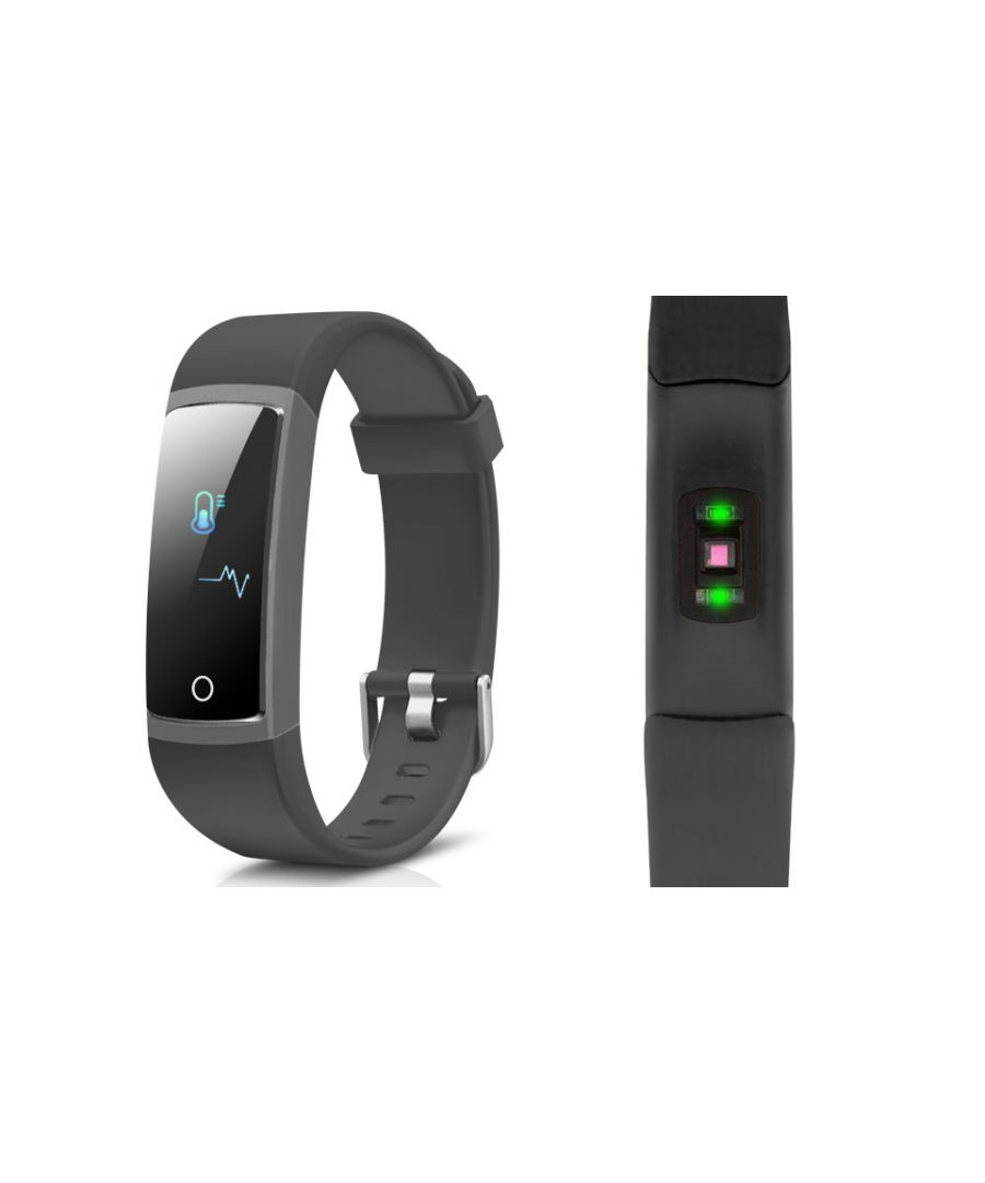 Image for AQ126 Fitness tracker with blood pressure - Colour Screen - Black