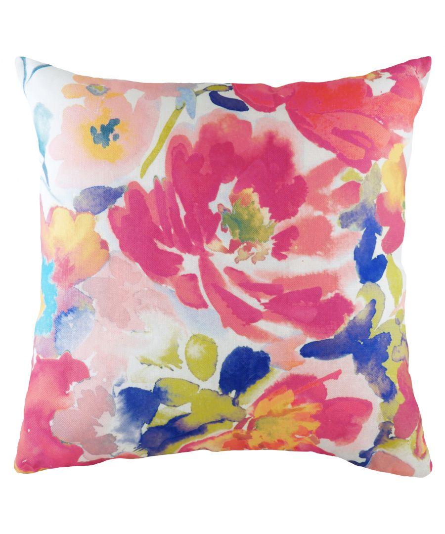 Image for Aquarelle Floral Cushion