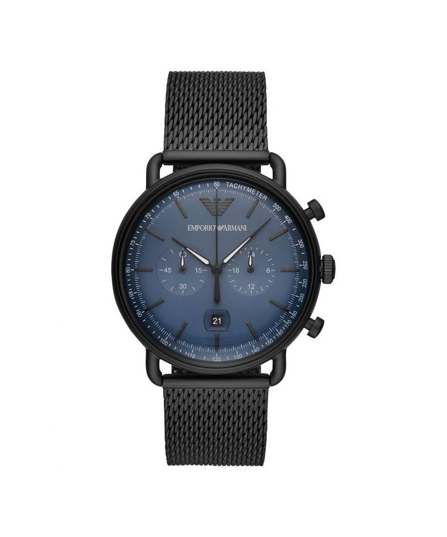Image for Emporio Armani Mens' Aviator Watch AR11201