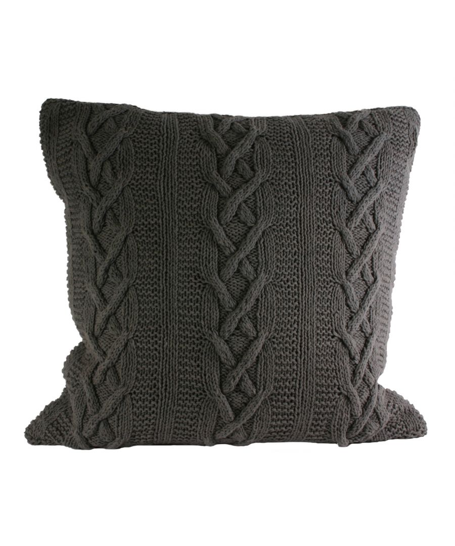 Image for Aran Poly Cushion 55X55 Charc