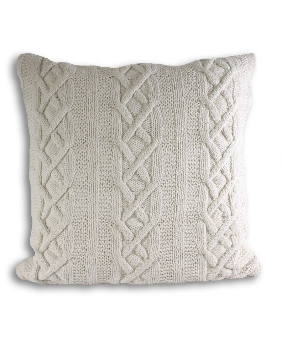 Image for Aran Poly Cushion 55X55 Cream