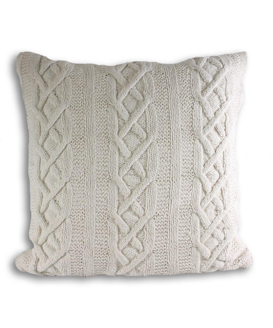 Image for Aran Poly Cushion 55X55 Cream