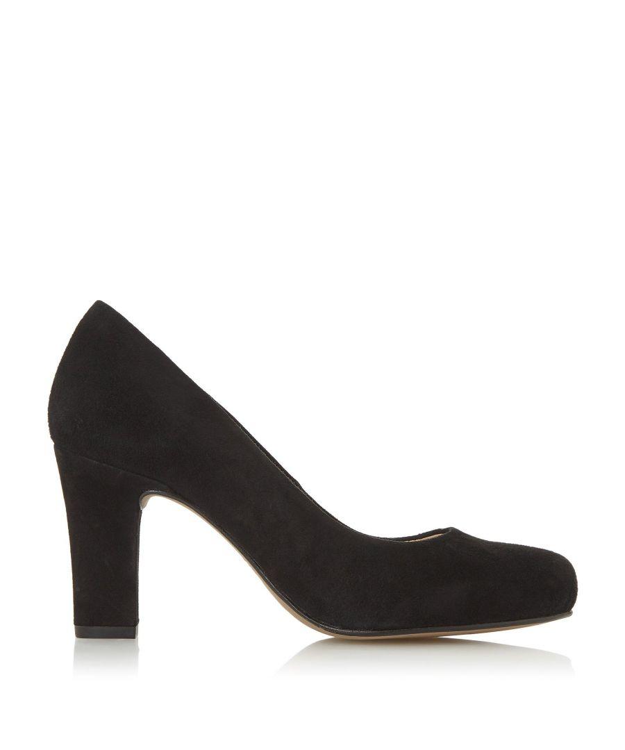 Image for Dune Ladies ASHEN T Comfort High Block Heel Court Shoes