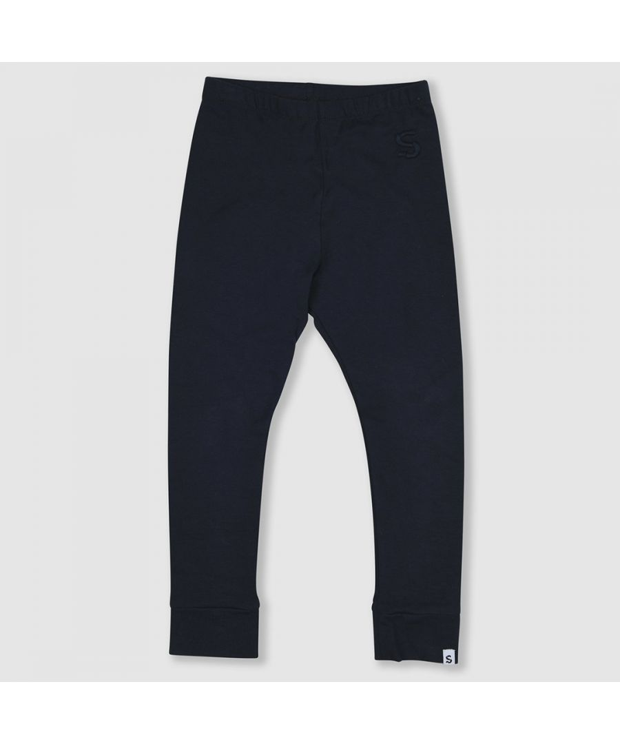 Image for Navy cotton leggings