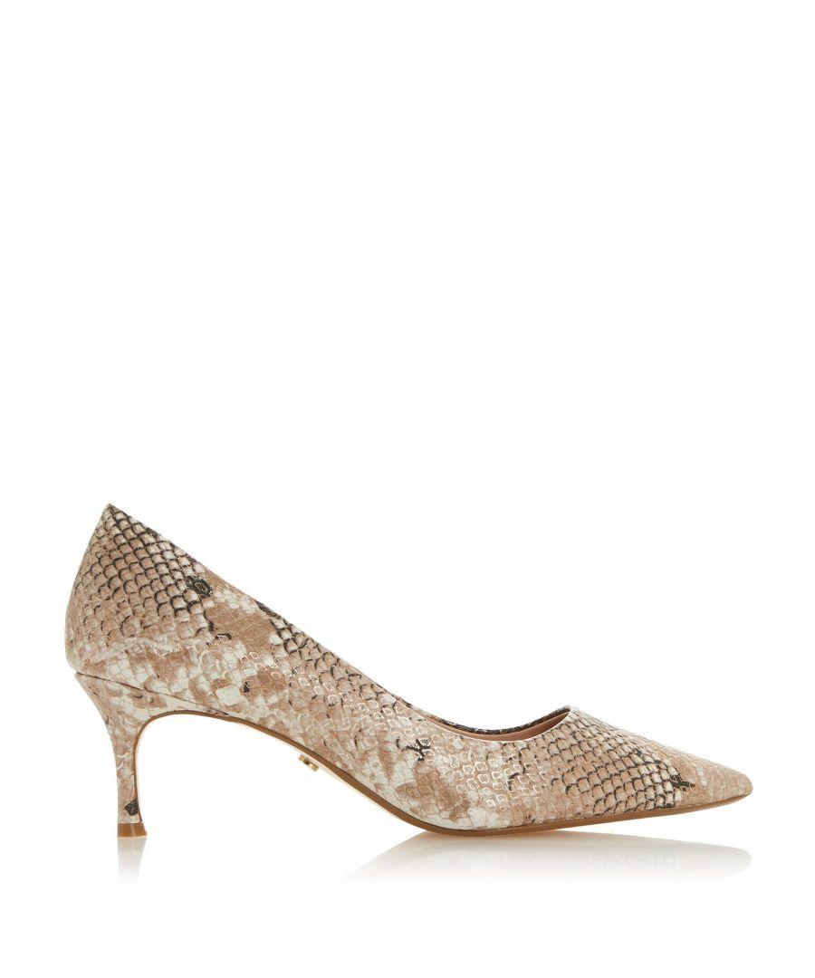 Image for Dune Ladies ASTAL Kitten Heel Court Shoes