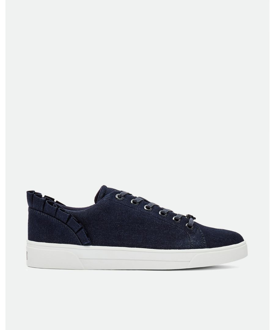 Image for Ted Baker Astrind Ruffle Detail Trainers, Blue
