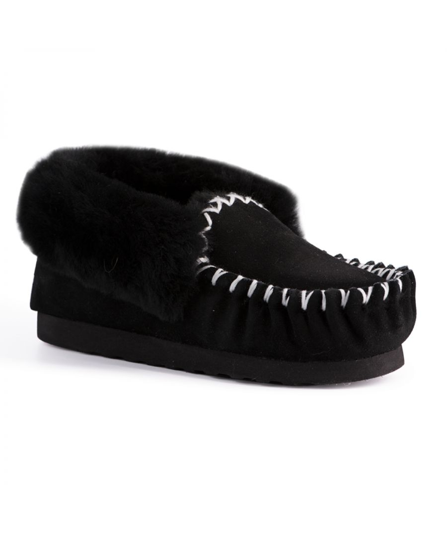 Image for Aus Wooli Australia Hand Stitched Womens Sheepskin Moccasin