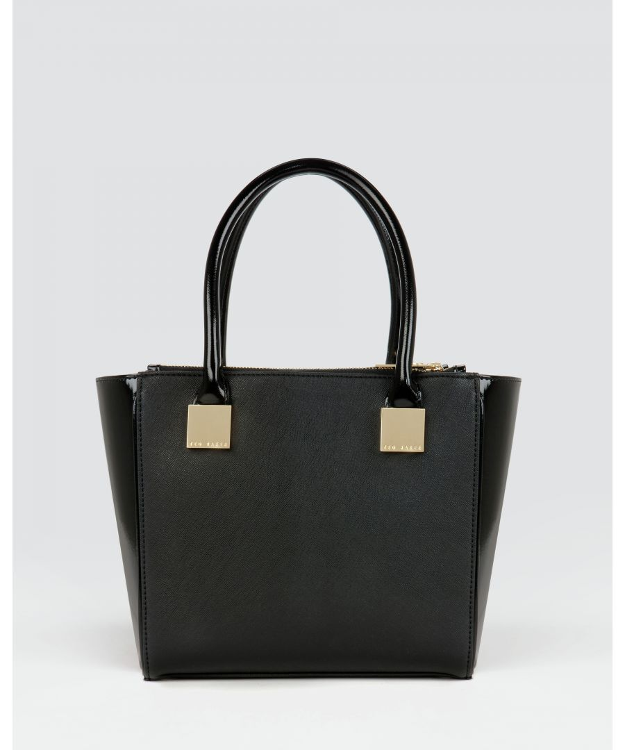 Image for Ted Baker Avah Crosshatch Mini Tote Bag, Black