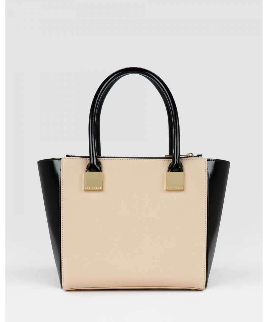 Image for Ted Baker Avah Crosshatch Mini Tote Bag, Taupe