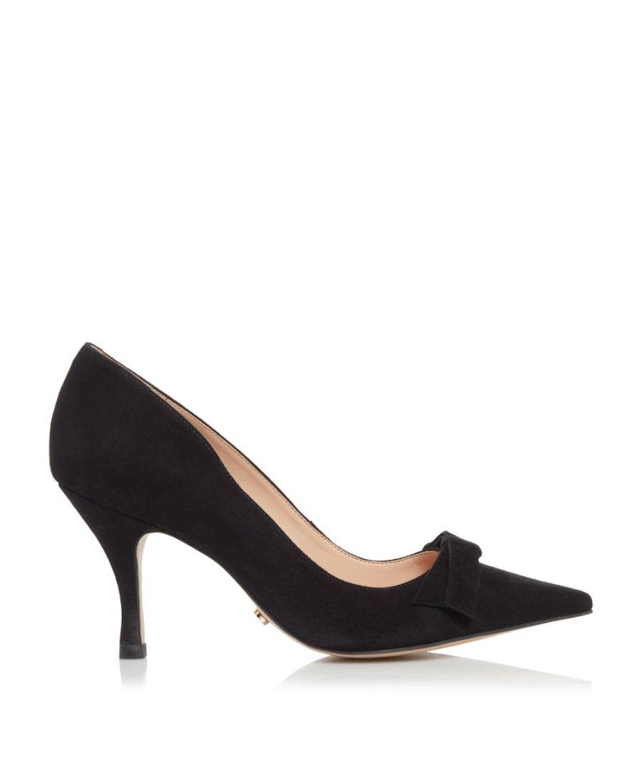 Image for Dune Ladies AVEREY Mid Heel Bow Court Shoes