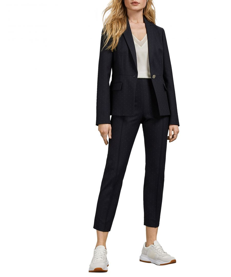 Image for Ted Baker Anabeli Spotted Suit Jacket, Dark Blue