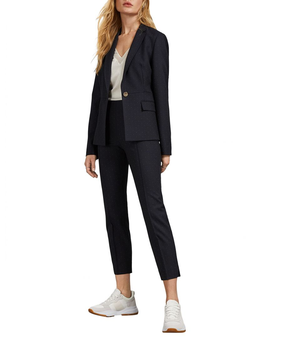 Image for Ted Baker Anabelt Spotted Suit Trouser, Dark Blue