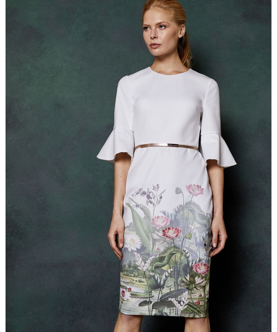 Image for Ted Baker Azania Wonderland Bodycon Dress, Ivory