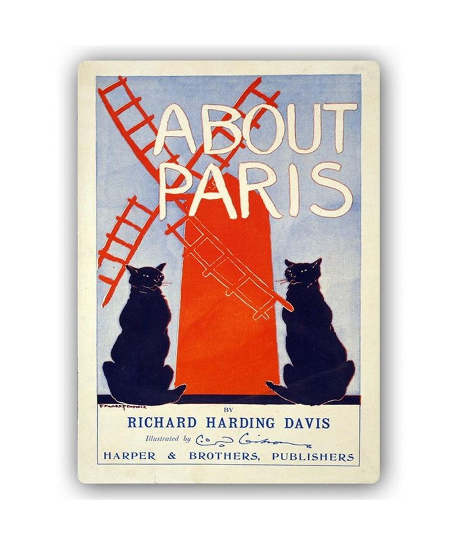 Image for Vintage Advertising Poster - Metal Print  - About Paris