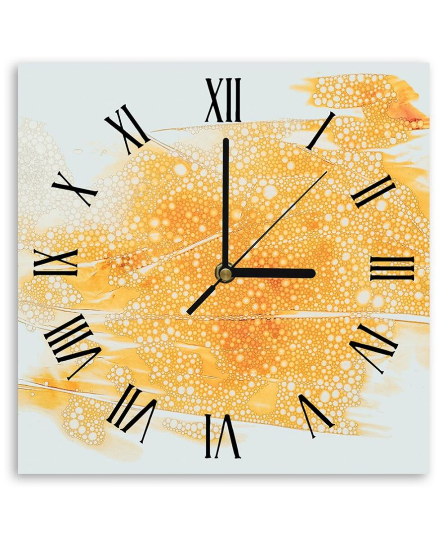 Image for Wall Clock - Coloured Water On Transparent Film Cm. 30x30