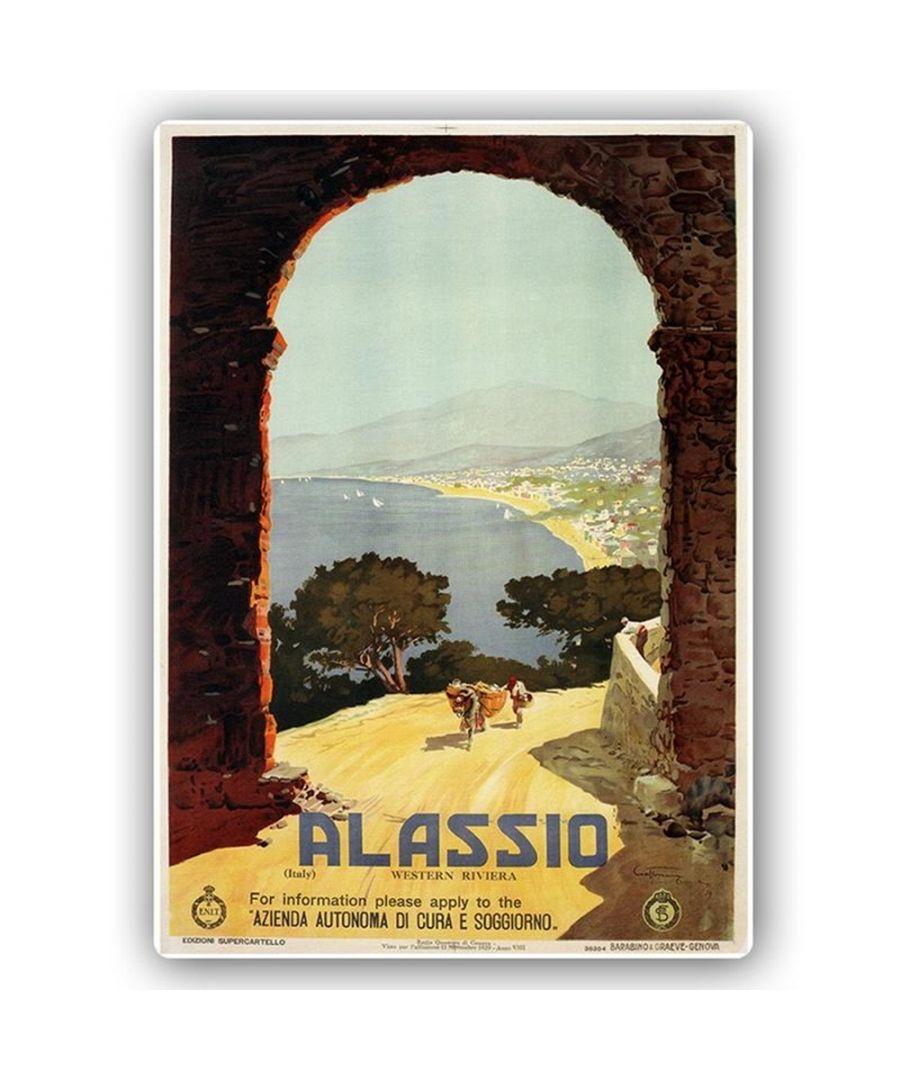 Image for Vintage Tourist Poster - Metal Print  - Alassio