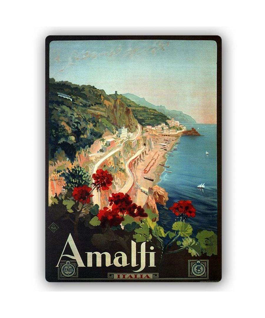 Image for Vintage Tourist Poster - Metal Print  - Amalfi