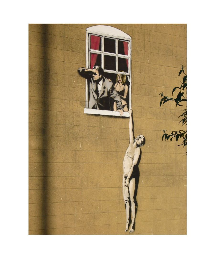 Image for Canvas Print - Lovers, Banksy cm. 60x80